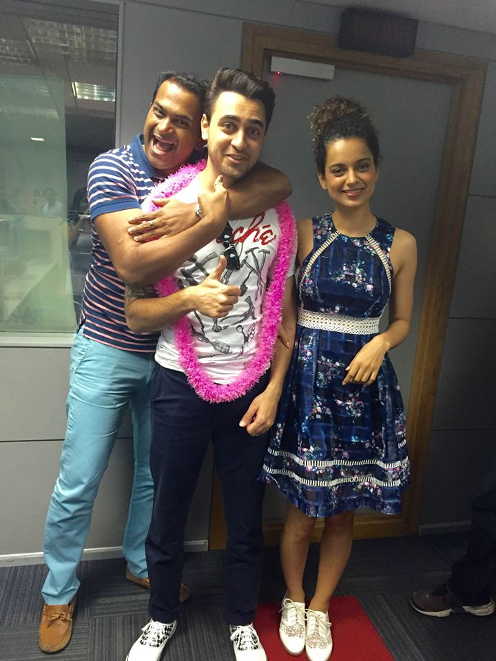 Sid K with  Kangana ranaut and Imran khan