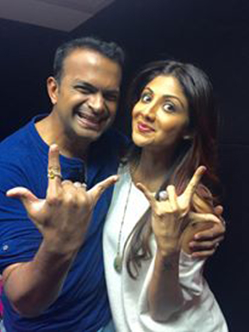 Sid K with Shilpa Shetty