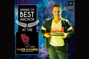 'Best Anchor' at the 'Page 3 AwardsFashion,Lifestyle,Entertainment!'