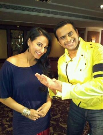 Sid K with Sonakshi