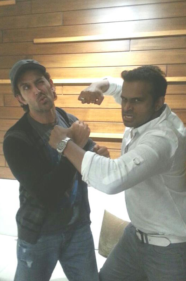 Sid K with Hrithik Roshan