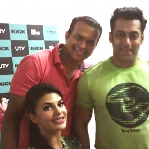 Sid K with Salman Khan and Jacqueline Fernandez