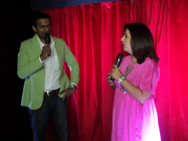 Sid K with Farah Khan