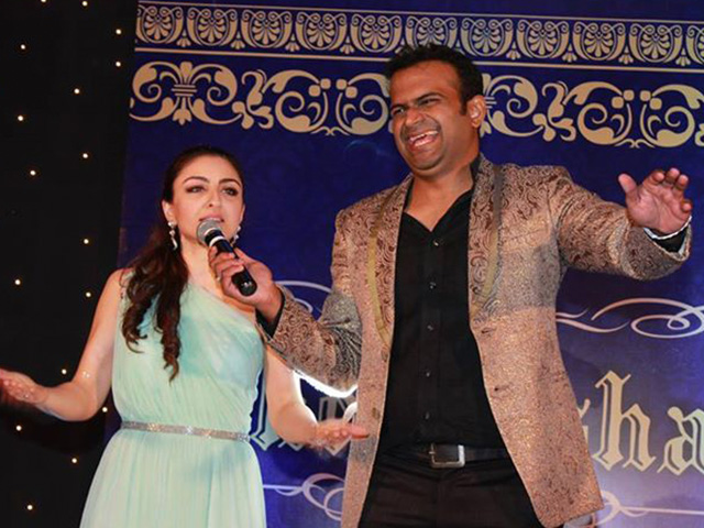 Sid K with Soha Ali Khan