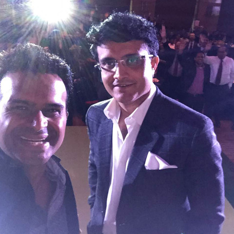 Sid K with Sourav Ganguly
