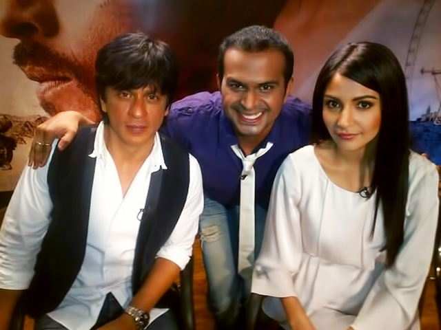 Sid K with Anushka Sharma and Shahrukh Khan