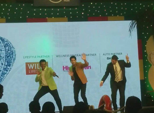 Here with Sidharth Malhotra while hosting the 'Lonely Planet Travel Awards'! Dancing away to #KargayiChull with Sidharth!