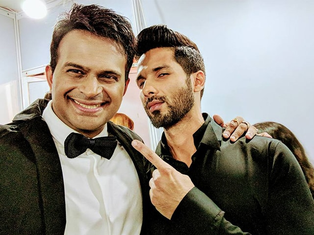 Sid K with Shahid Kapoor